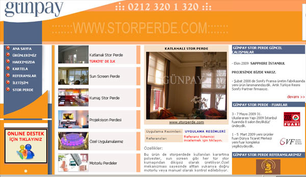 Stor Perde .com Sitesi