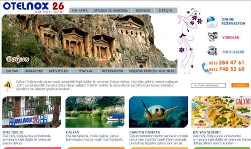 Dalyan Hotel Nox26 Web Sitesi Tasar�m�