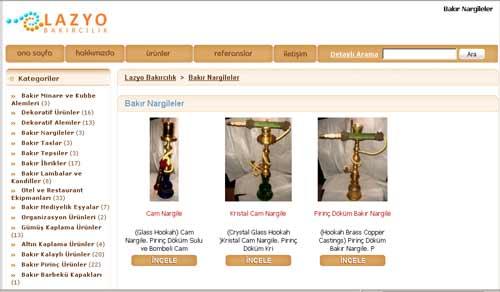 Lazyo Bakır Ürün Tanıtım Sitesi Açmak