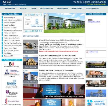ATEC Yurtdışı Eğitim Kurumsal Web Dizayn
