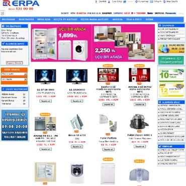 Erpa Online Beyaz Eşya Alışveriş Siteleri