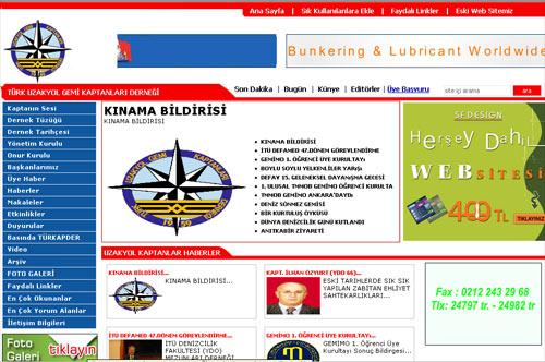 Türk Kaptanları Dernek Web Sitesi Açma